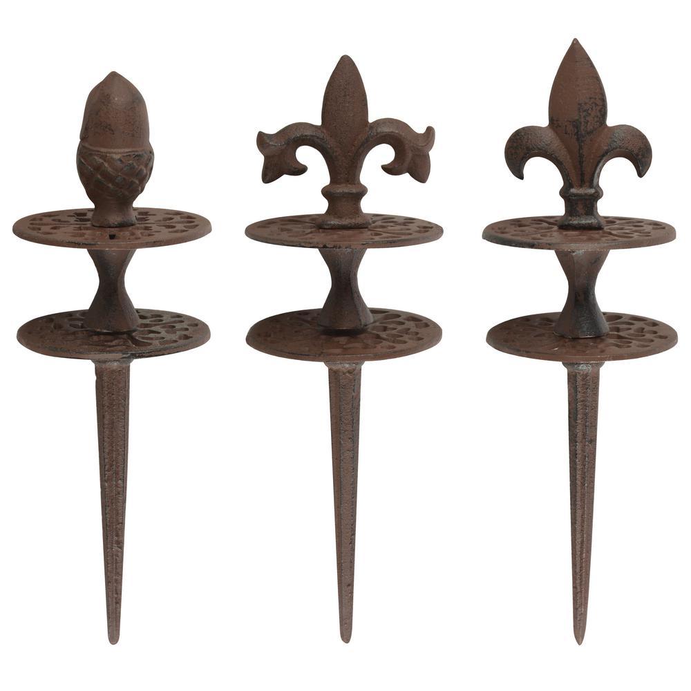 Esschert Design Usa 3 9 In X 3 9 In X 12 4 In Cast Iron Hose Guide Tg112s The Home Depot Cast Iron Metal Hose Distinctive Designs