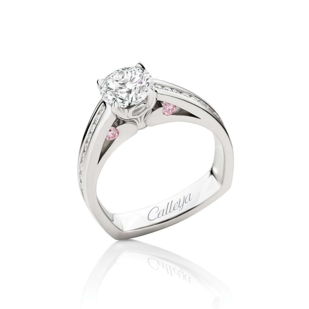 3232f915da5f1 Rock Your World White and Argyle Pink Diamond Engagement Ring ...
