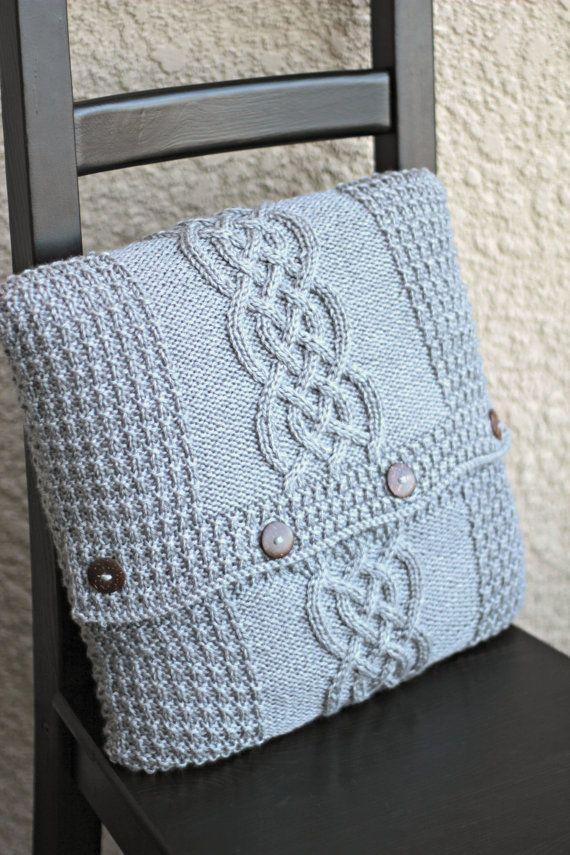 Knitting pattern, knitting tutorial, aran pillow case, cabled pillow ...