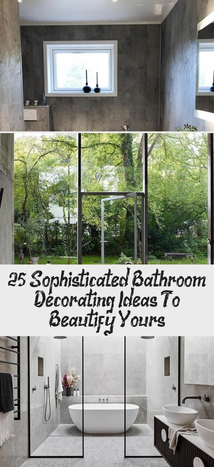 25 Sophisticated Bathroom Decorating Ideas to Beautify Yours  #bathroom #homedecor #bathroomideasSmall #bathroomideasVideos #Brownbathroomideas #bathroomideasRemodel #Victorianbathroomideas