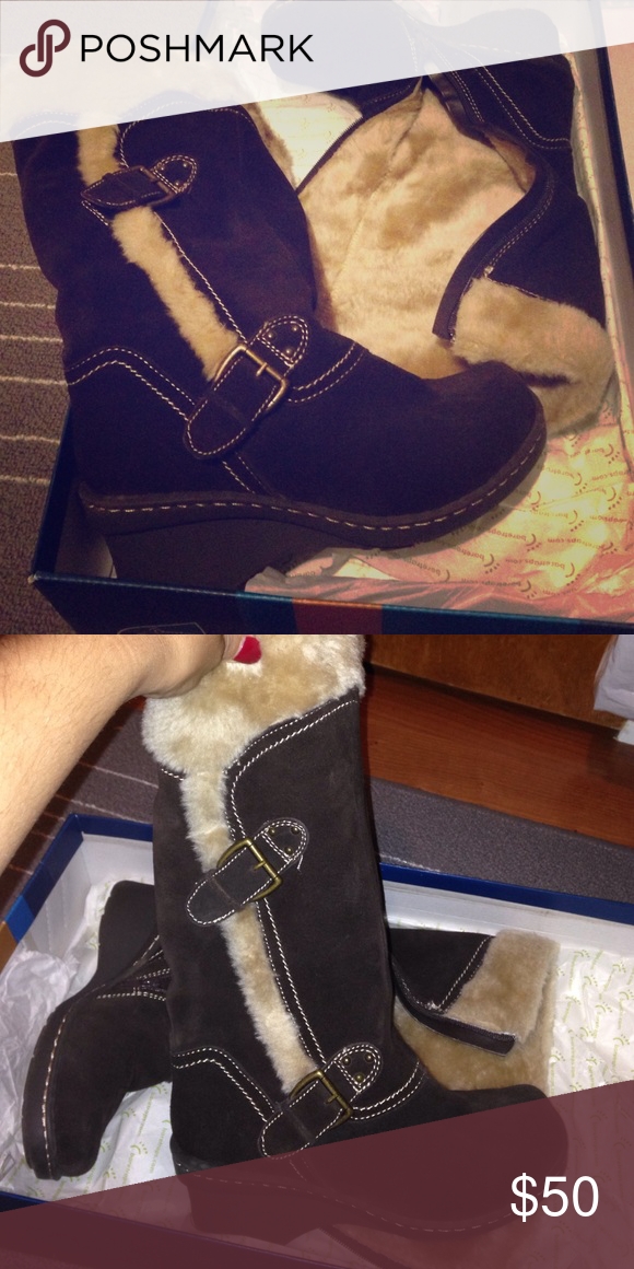 BareTrap boots Stay dry system Brown BareTrap boots barely worn BareTraps Shoes Winter & Rain Boots
