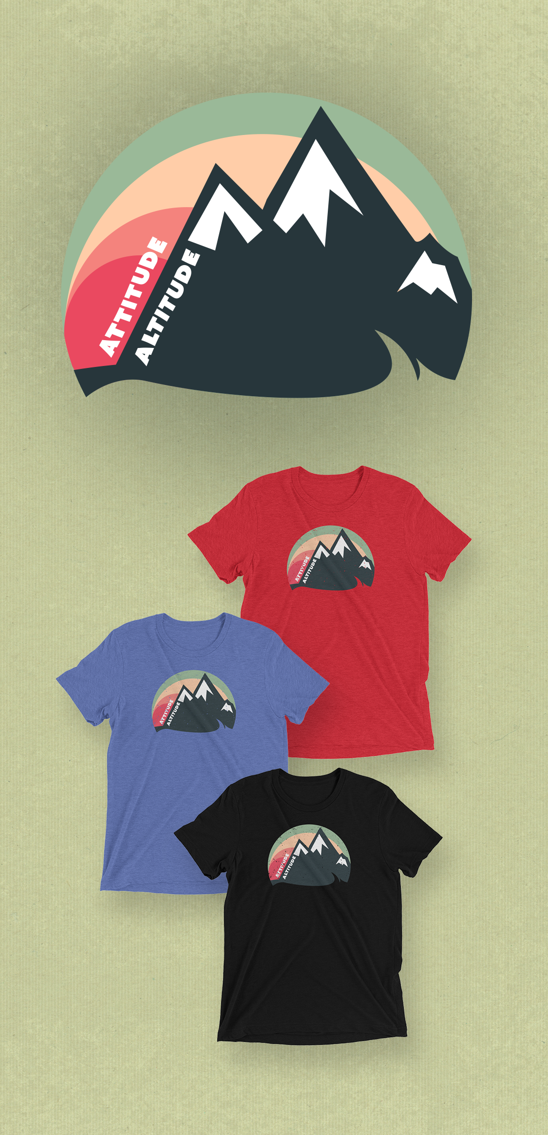 56f0e452 Attitude or Altitude; if you love the mountain life its probably both!  Climb into these super soft vintage t-shirts and be outdoorsy.