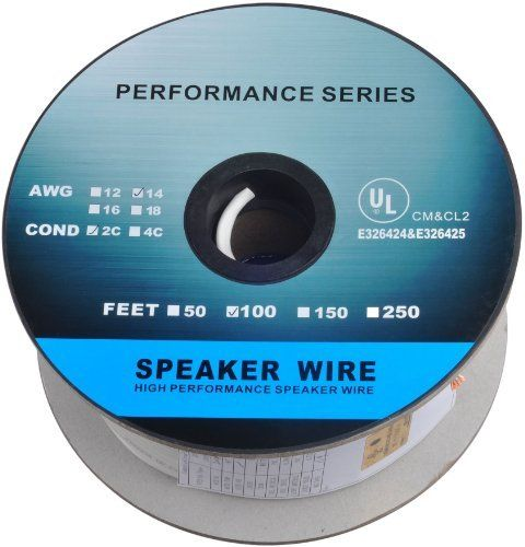 2 16 AWG Gauge 2 Conductor Speaker Wire Cable CL2 50ft In Wall 16