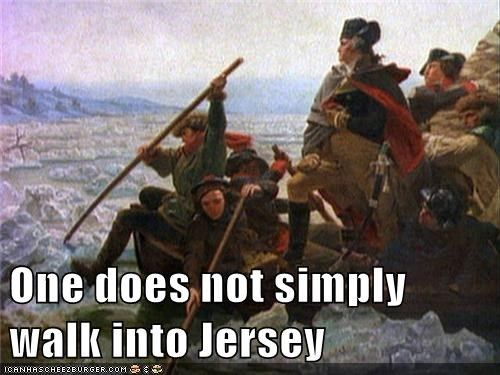 What did Washington say to his troops when they crossed the Delaware