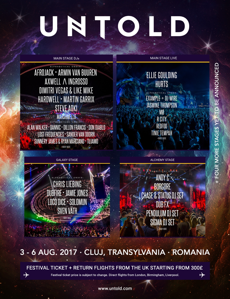 Romanias Untold Festival First Acts Pinterest Tiket Dwp Djakarta Warehouse Project 2017 2 Day Pass Biggest August 3 6 In Cluj Napoca Keeps Getting Bigger And Better With
