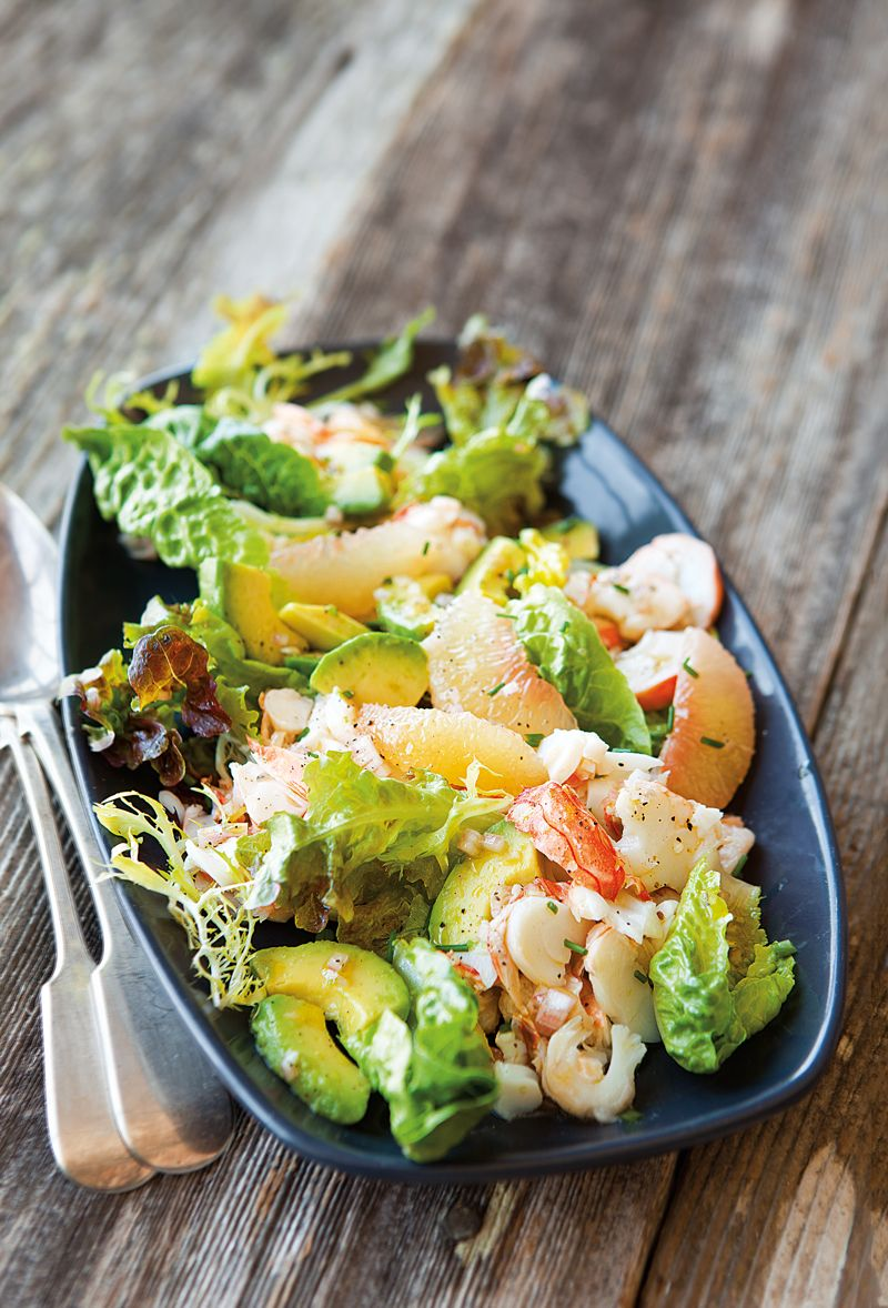 The grapefruit juice in this vinaigrette, along with the grapefruit sections in the salad, accentuate the sweetness of succulent lobster. Smooth, creamy avocado adds a ... read more