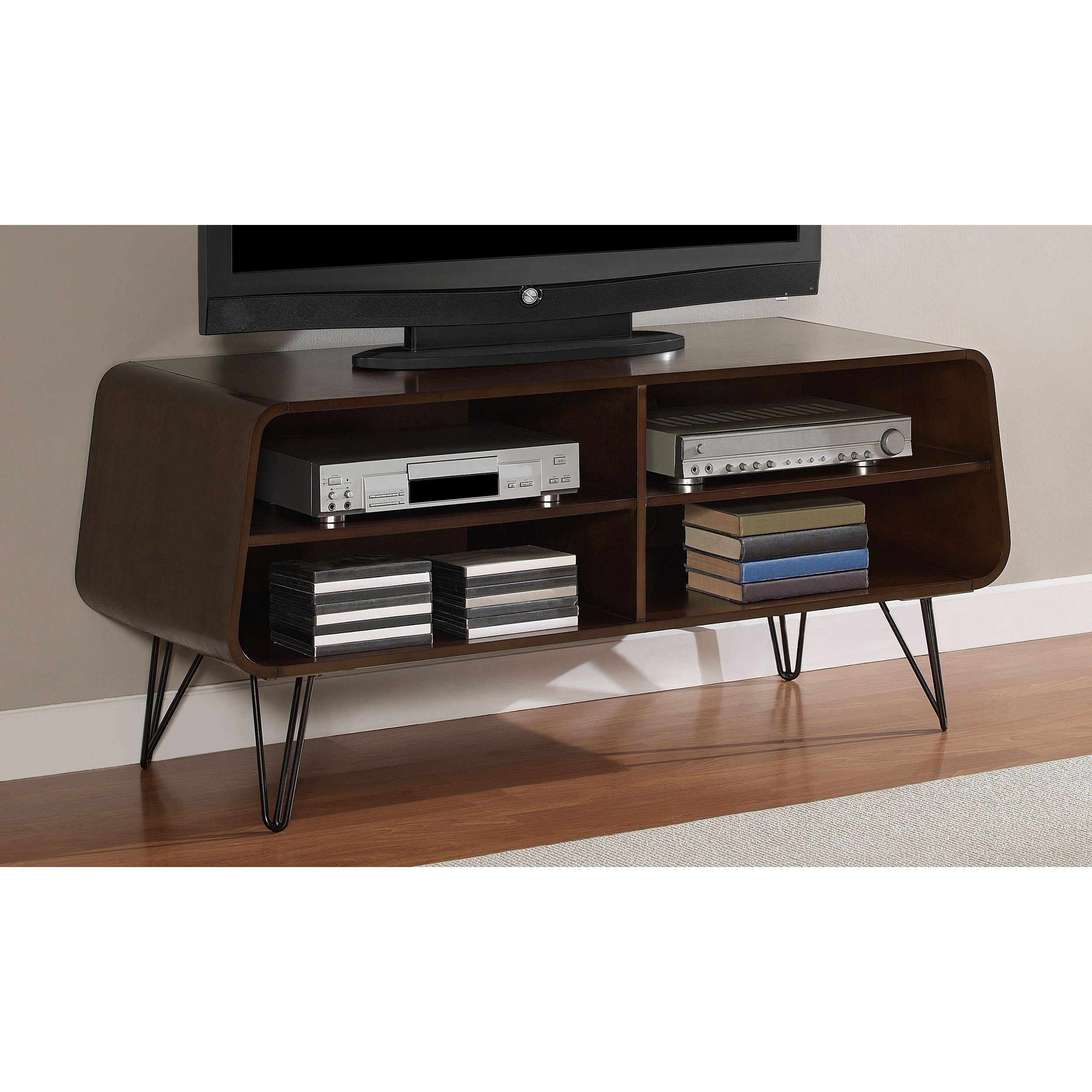 This retro media center design will add style and pizazz