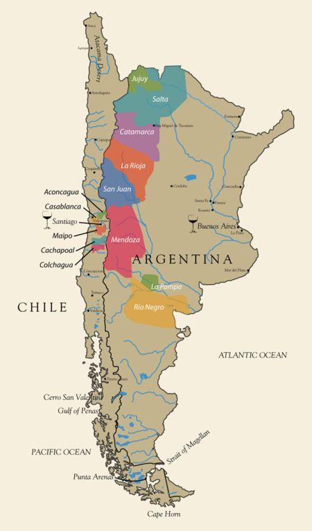 Argentina Wine Map Italok Bor Es Argentina