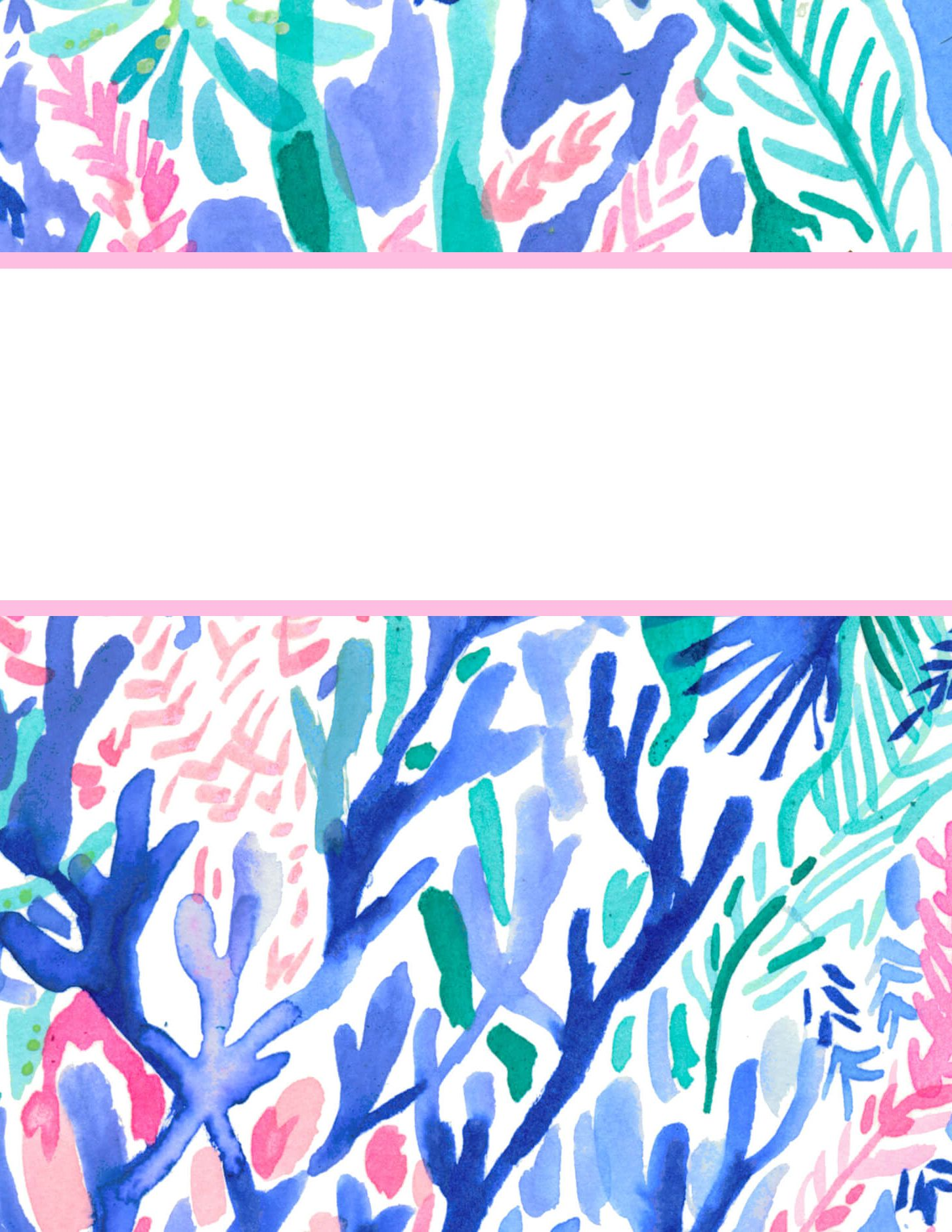 image regarding Free Printable Binder Covers Lilly Pulitzer named Totally free Printable Preppy Lilly Pulitzer Binder Handles College or university