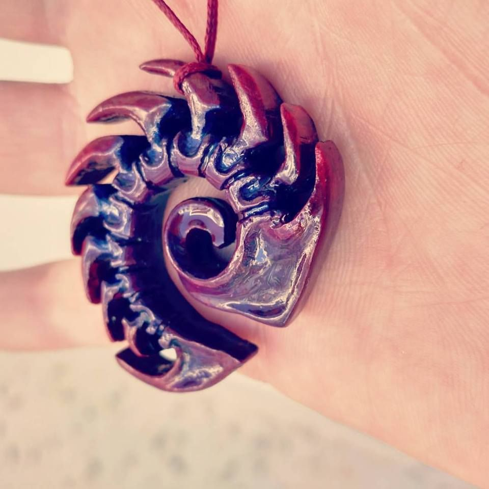 Starcraft 2 Zerg Symbol Hand Made Necklace You Can Find More Of