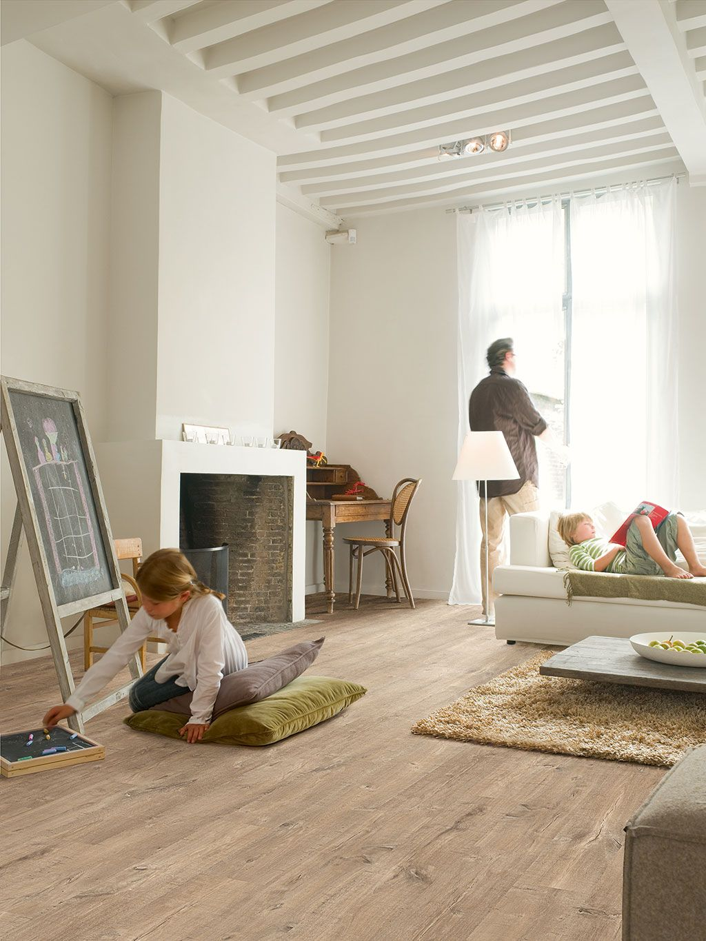 light wood floor perspective. Quickstep Perspective Oak Plank Saw Cuts Nature Laminate Floor Light Wood S