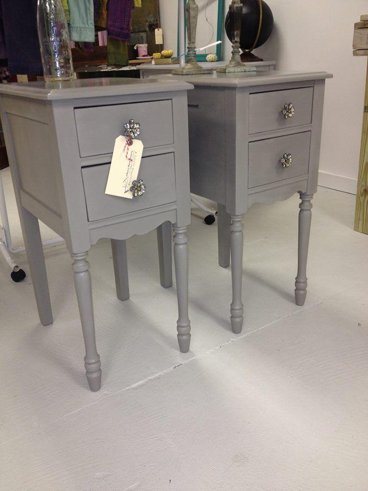 Amy howard Selznick grey nightstands