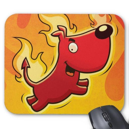 Cartoon Devil Dog Mousepad