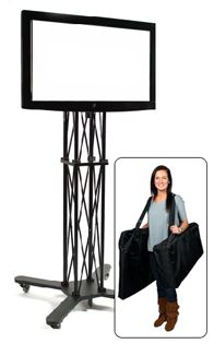 Portable TV Stand Perfect for Trade Shows