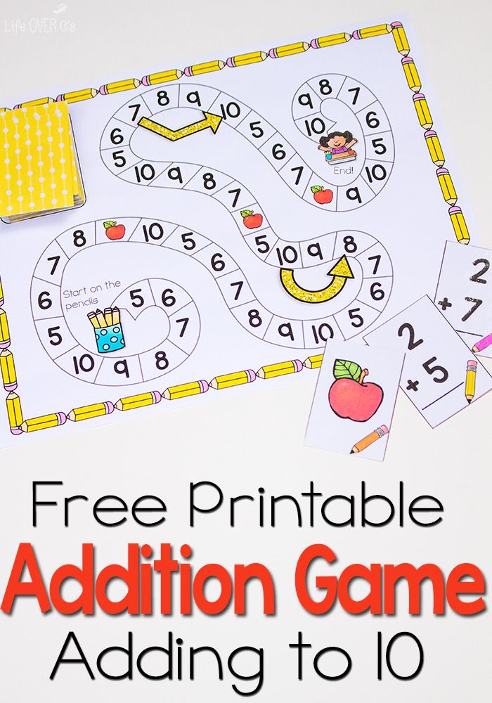 Free Addition Facts Game | Free printable, Math and Gaming