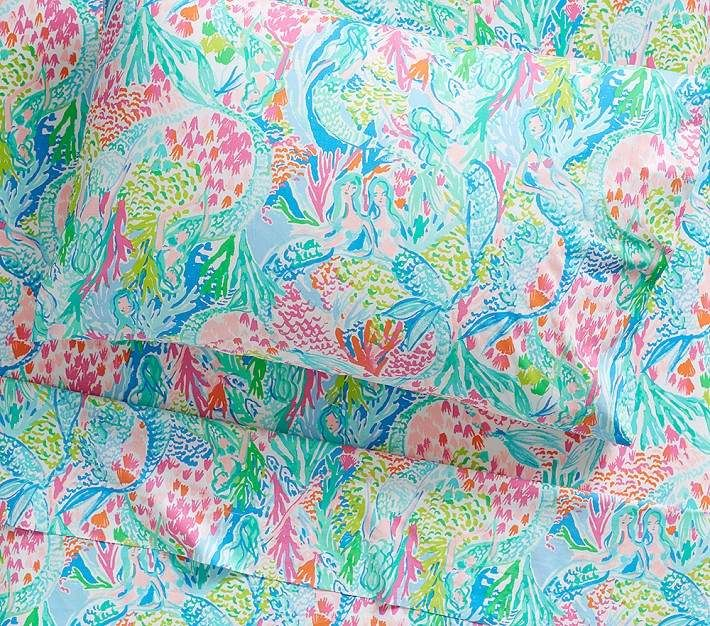 Lilly Pulitzer Mermaid Cove Sheet Set Twin Multi
