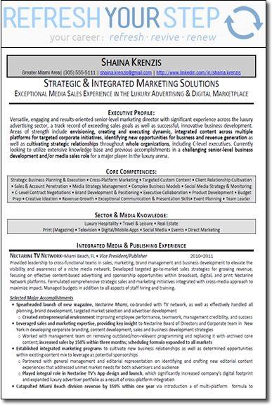 Marketing Director Resume The Senior Marketing Director