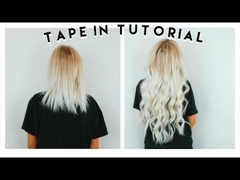 How To Ly Tape In Hair Extensions At Home Ft Vp Fashion