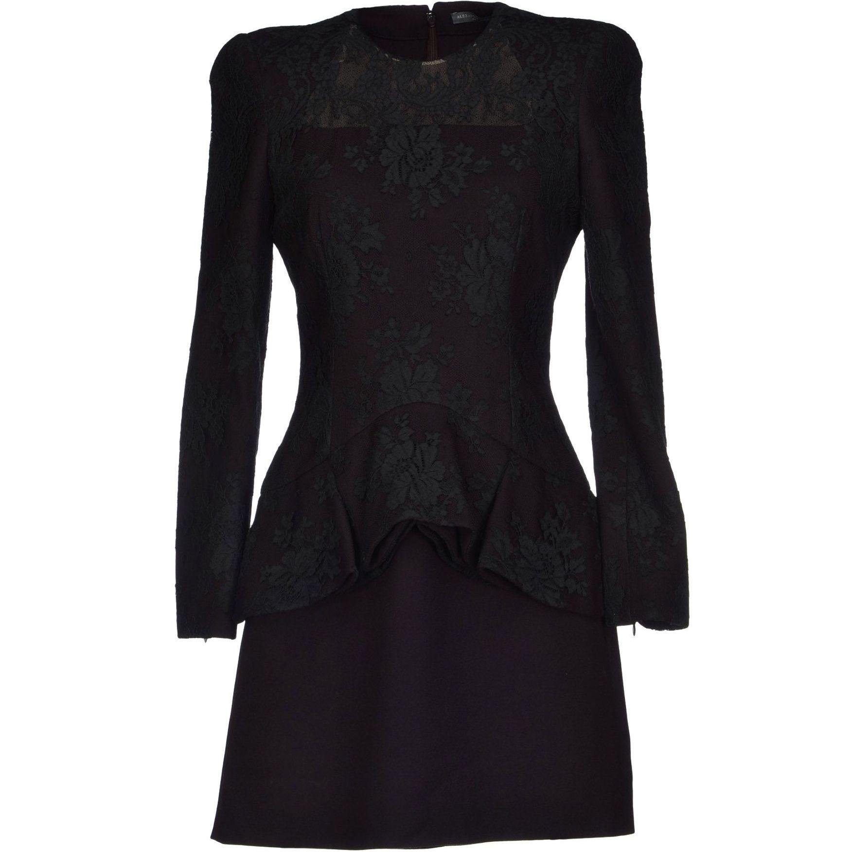 ALEXANDER McQUEEN Dark purple power shoulder and peplum mini-skirt dress | Brand dress rental salon''SHIROTA''