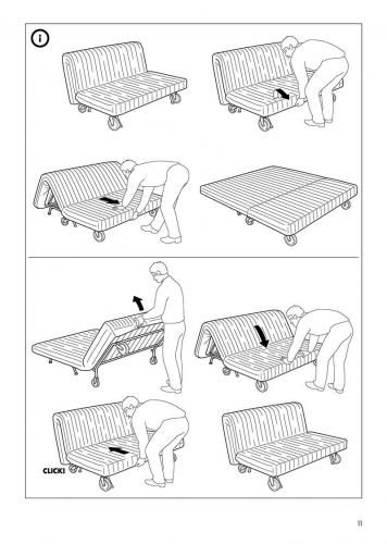 An Example Of How To Open And Close A Pull Out Couch This Example Uses Illustrated Instructions To Show The Steps Involved For Ope Sofa Bed Ikea Sofa Bed Ikea