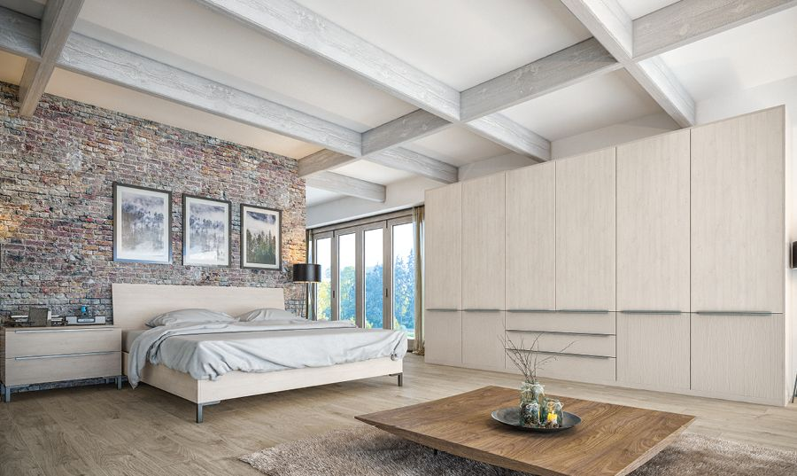 Valore White Swiss Larchcashmere Kitchens And Bedrooms Bedroom