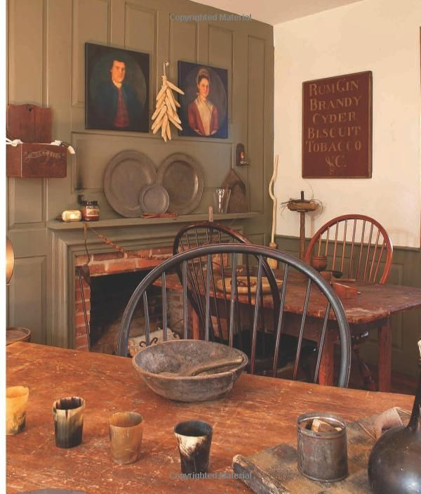 Colonial Home Decorating Ideas: Primitive And Colonial Interiors