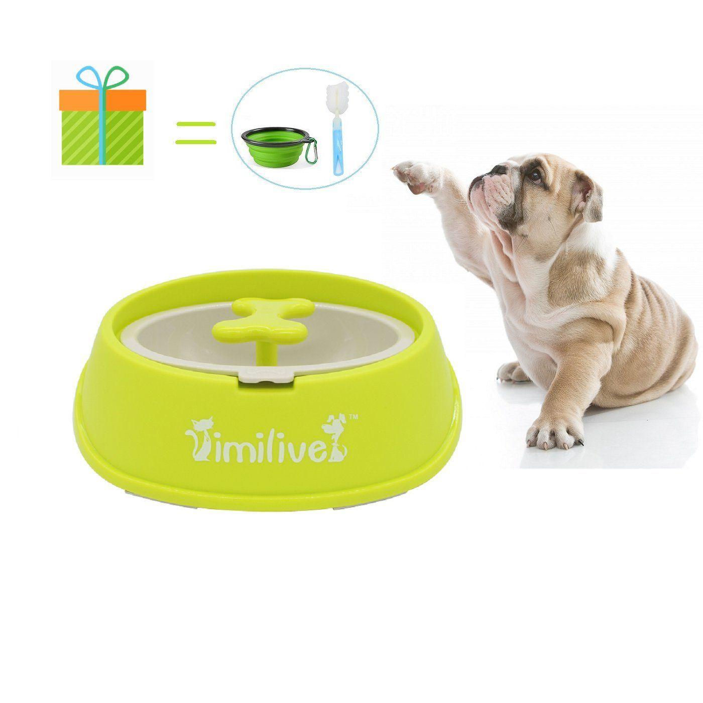 Wesen Dog Bowls 80 Oz Stainless Steel Dog Food Bowl And Pet Bowl