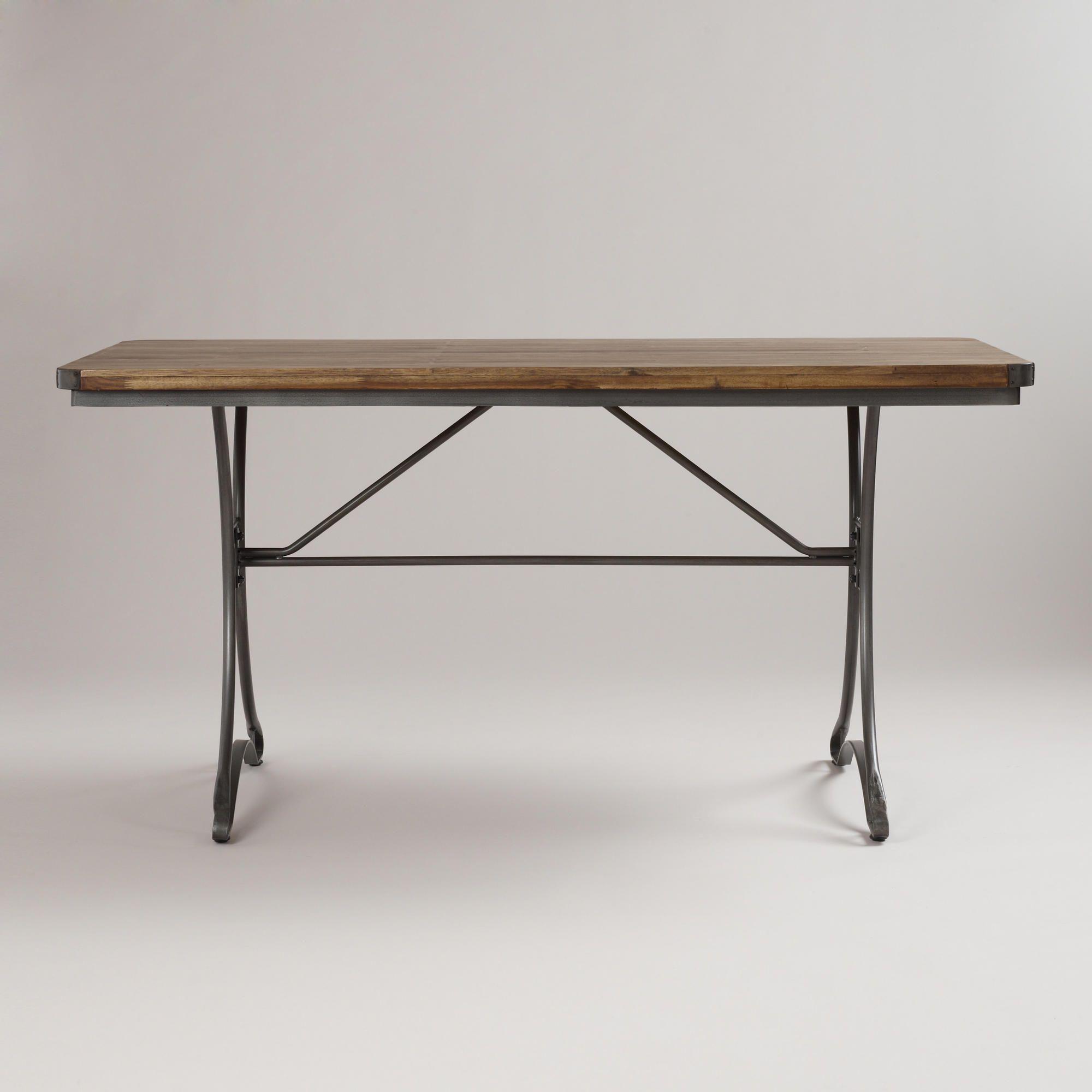 Jackson Rectangular Table with Metal Base World Market