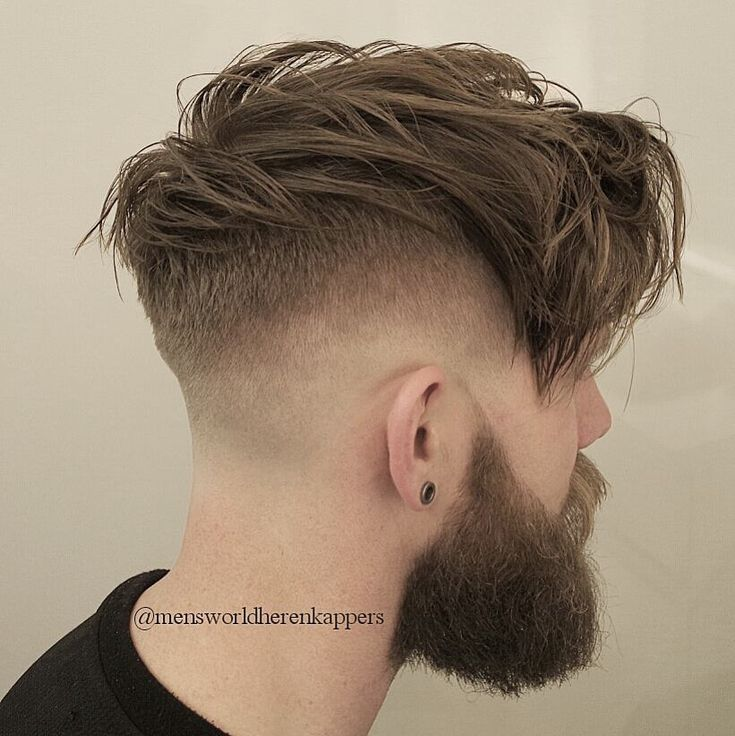 Faded Hairstyle Heavy Men Mensworldherenkappers Razor