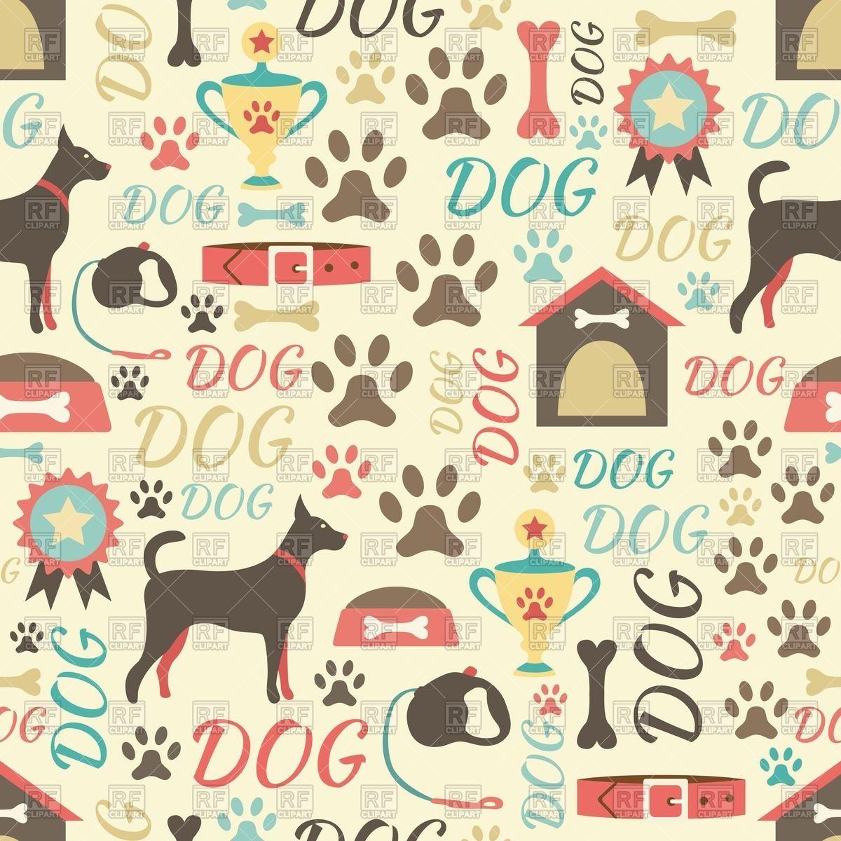 Dog paws wallpaper wallpapersafari dog quilts fabric - Dog print wallpaper ...