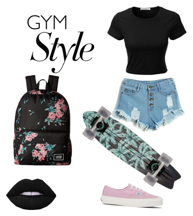 """""""Skatess💙"""" by elvirasalvatore on Polyvore featuring LE3NO and Vans"""