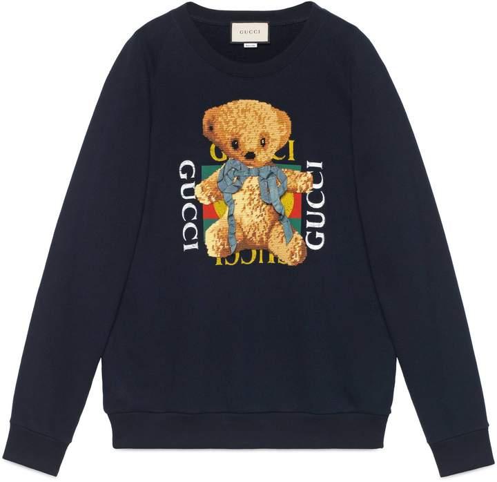 4e97c9fc66 Gucci logo sweatshirt with teddy bear | Gucci in 2019 | Gucci ...