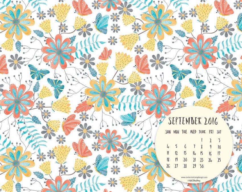 Free Calendar Wallpaper September : September free desktop calendar download by mel