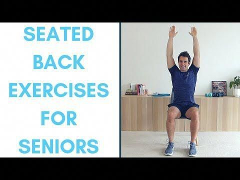 back exercises for seniors seated  simple lower back