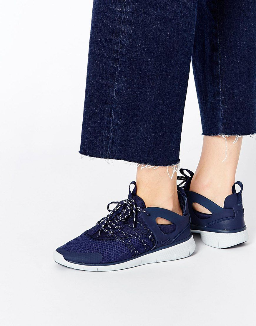 new arrival 4062d 3bbf5 Image 1 of Nike Free Viritous Navy Trainers