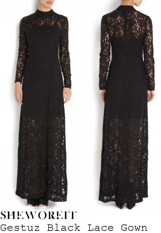 0596296dc3 Long black lace gown | Fashion Me | Lace dress black, Black lace ...