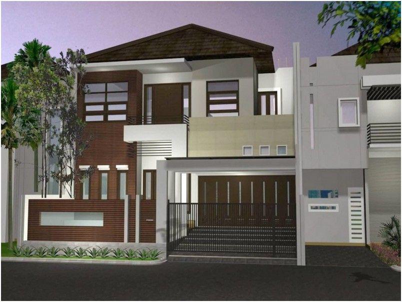 model desain tembok pagar rumah minimalis besi mewah