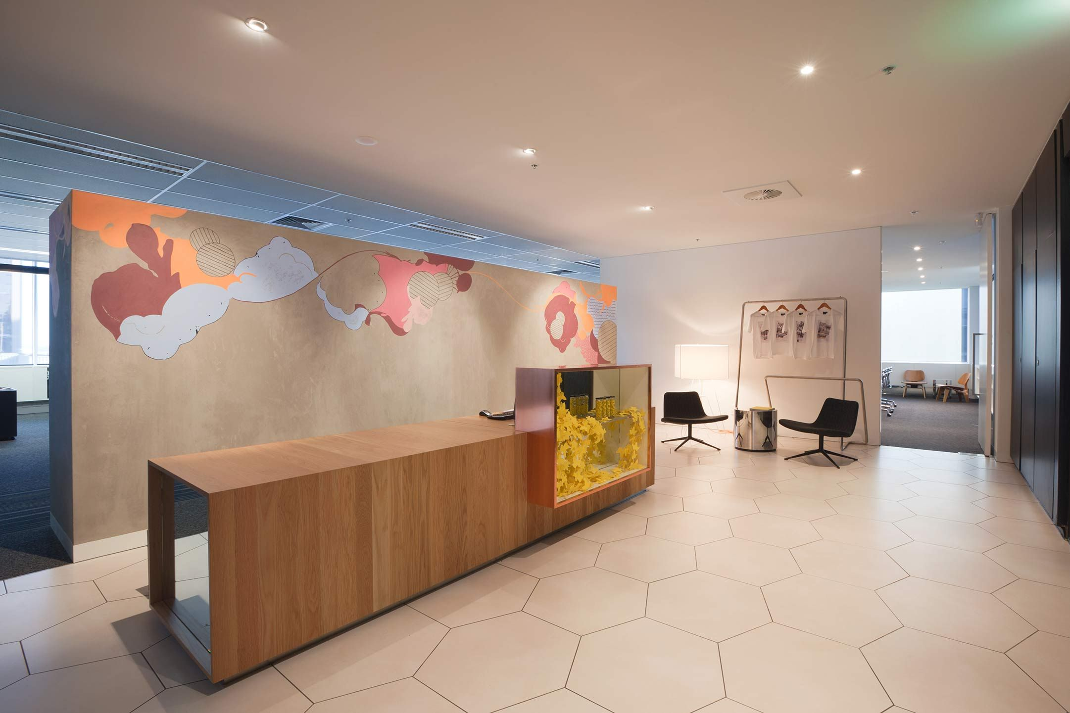 Red design group melbourne office interiors offices for Melbourne space design