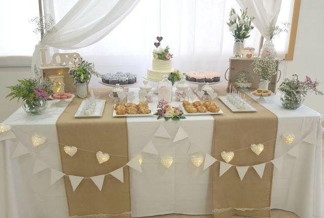 Mesa dulce r stica y rom ntica tortas decoraci n - Bodas sencillas y romanticas ...