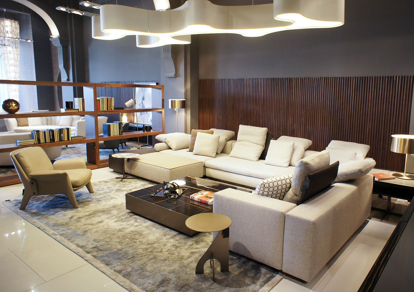 Jakarta Flagship Store #minotti #jakarta #flagship #store | Lounge Sofa, Daybed Design, Leather Sofa