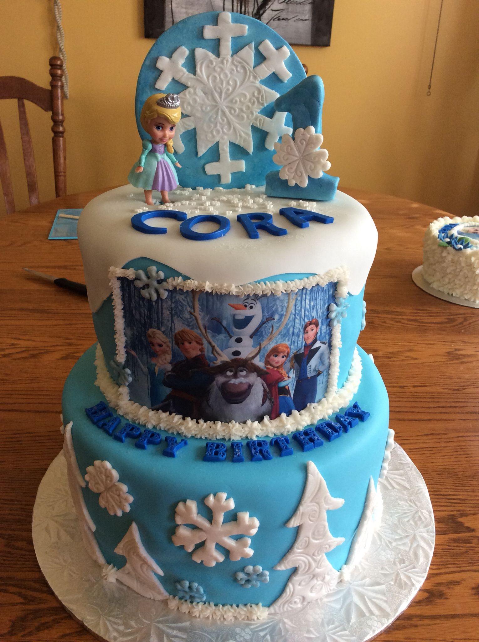 Frozen cakescupcakes mine pinterest cake and birthday cakes