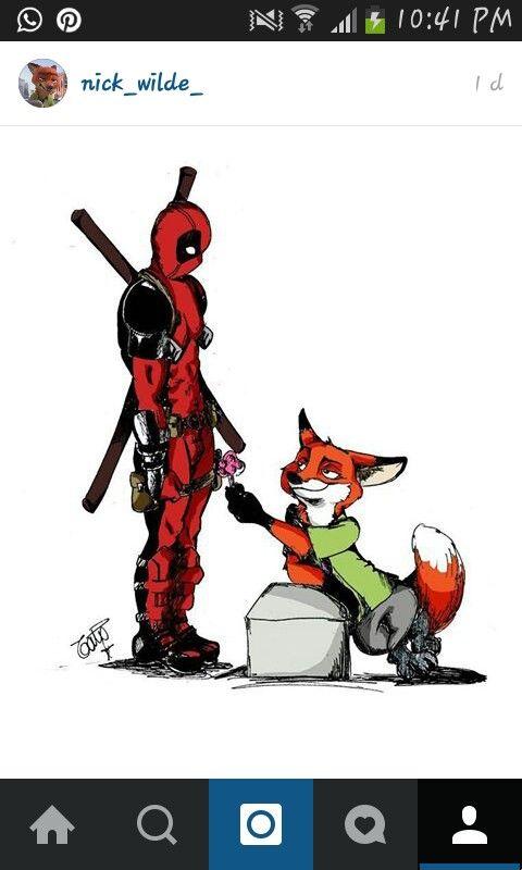 Deadpool vs Nick Wilde  bcb96a50c76