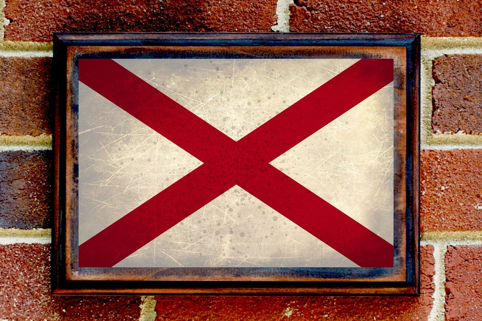 Alabama Al State Flag Wall Art Sign Plaque Gift Present Home Etsy Wall Art Sign Wall Art Plaque Sign