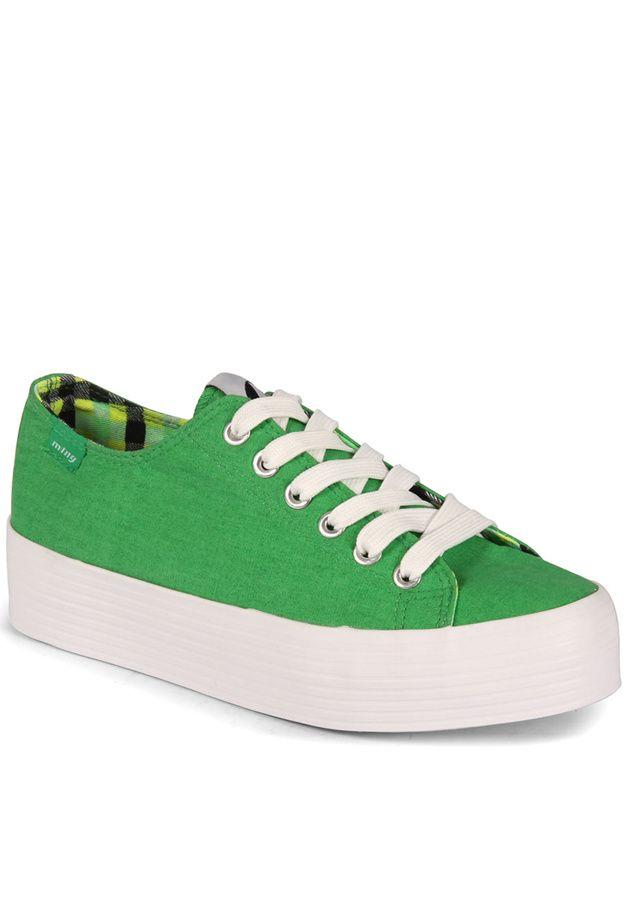 ac4d2a47bd Zelené tenisky s vysokou podrážkou MTNG(4257) - 2