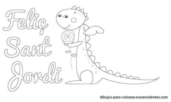 Tarjetas y dibujos de Sant Jordi para imprimir | Actividades para