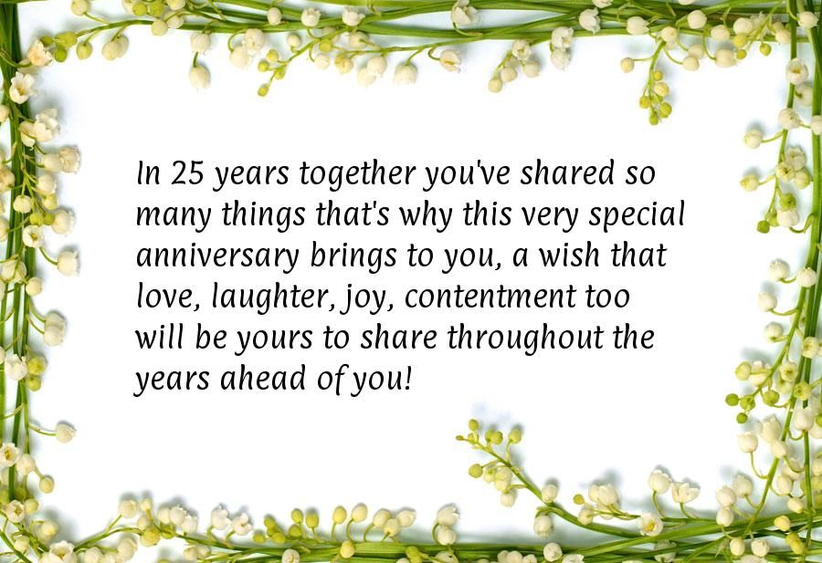 Silver Anniversary Wishes With Images Wedding Anniversary