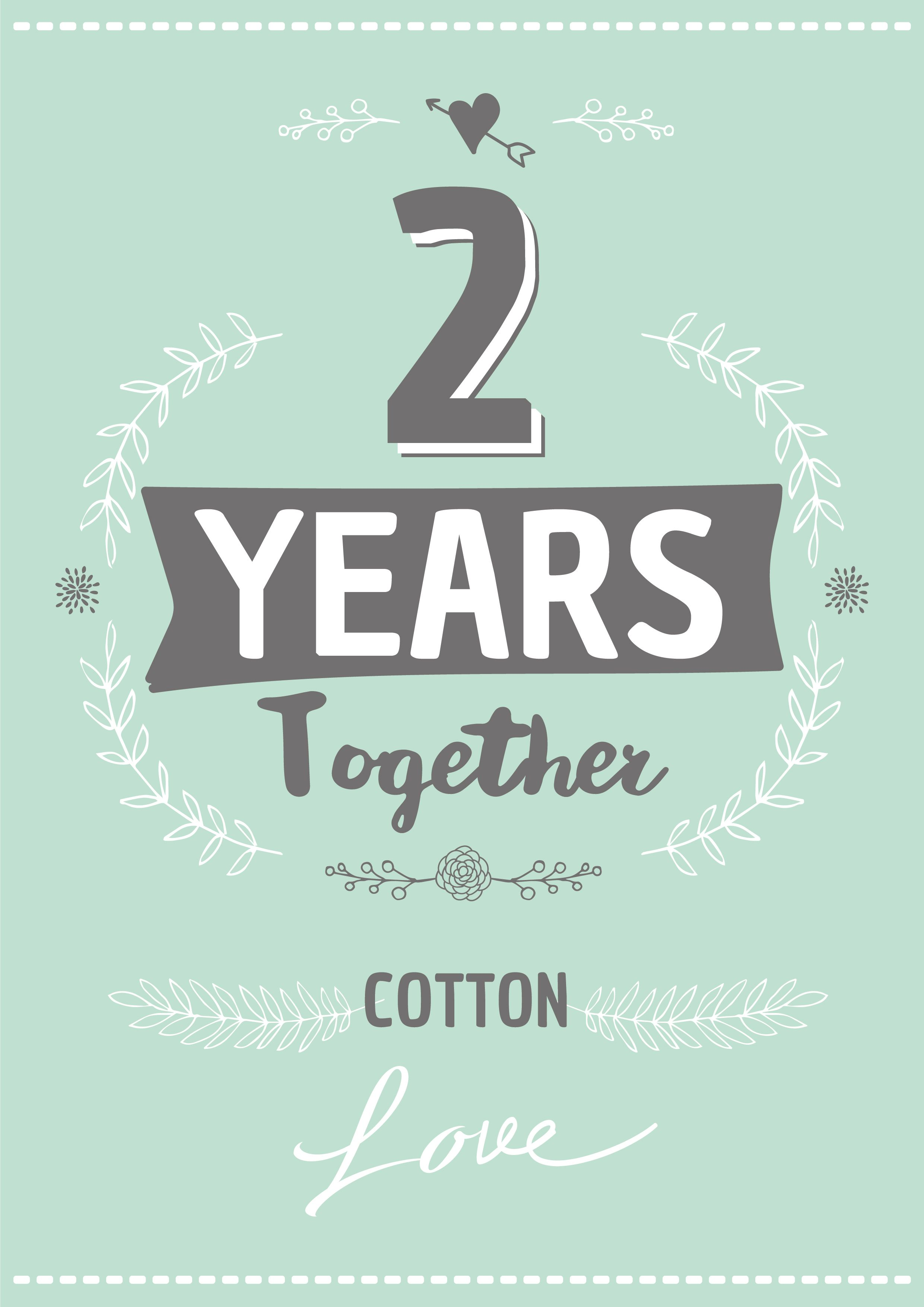 Personalised Anniversary Card Cotton Personalized