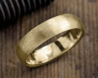 Recycled 14k Gold Mens Wedding Band Brushed Gold Gold Mens Etsy Mens Gold Wedding Band Mens Wedding Bands White Gold Mens Yellow Gold Wedding Bands