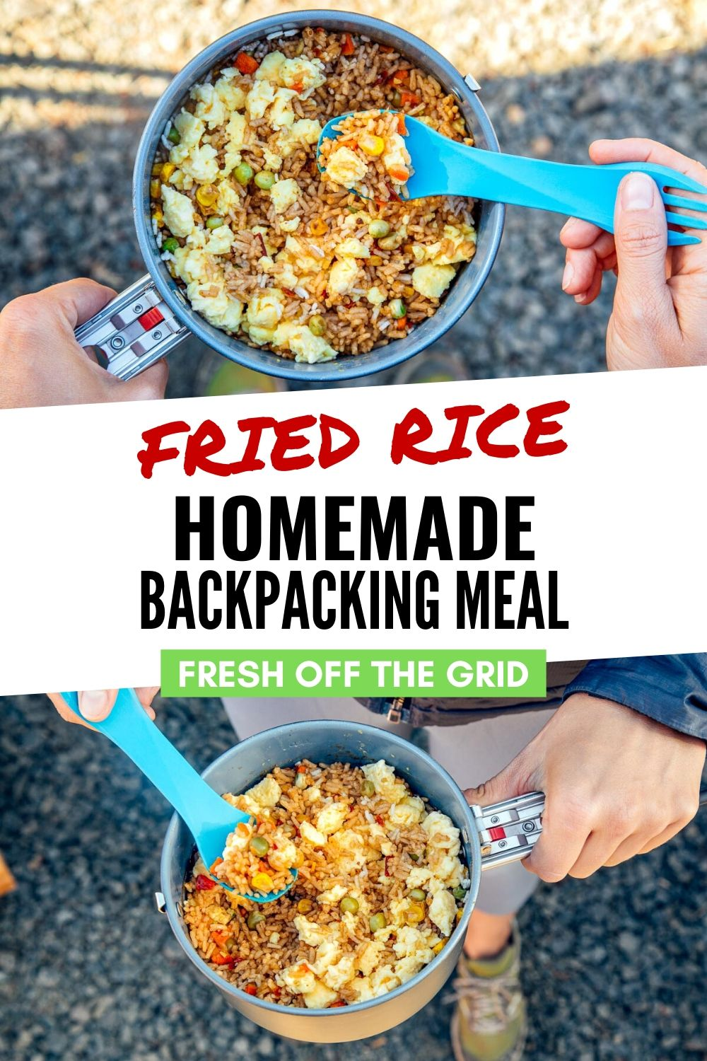 Backpacking Fried Rice Recipe In 2020 Hiking Food Dehydrated Backpacking Meals Vegan Backpacking Food