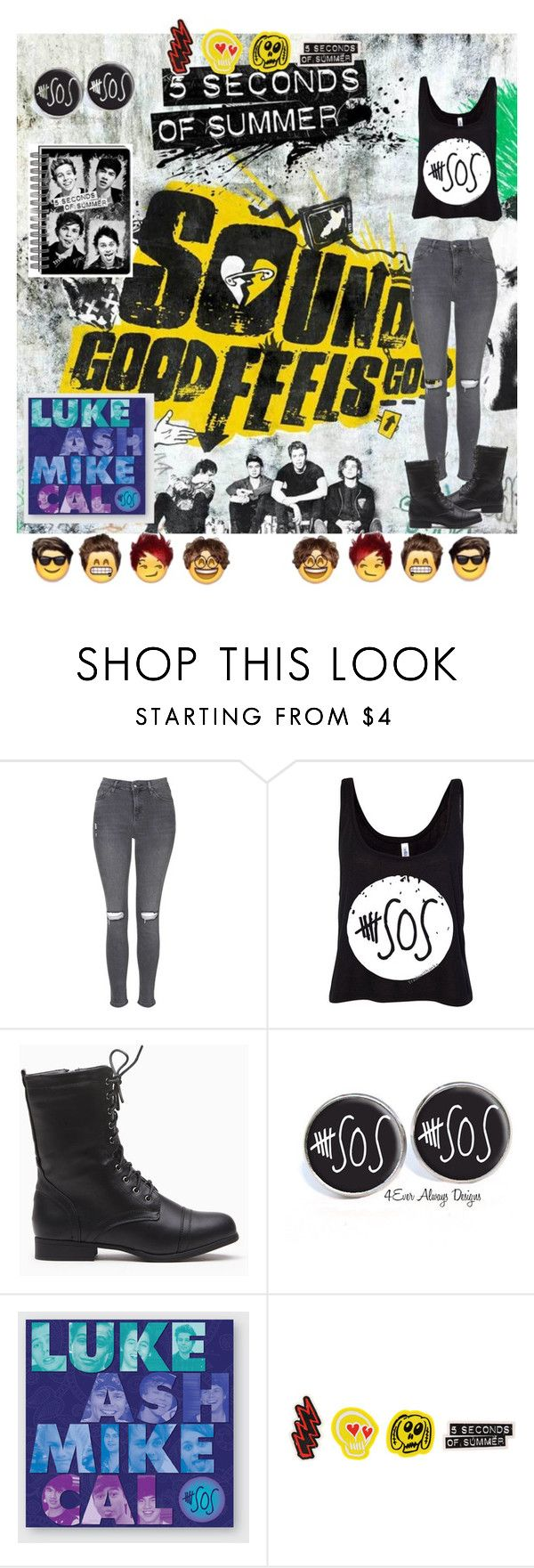 """""""For 5sos fans"""" by sharksquad ❤ liked on Polyvore featuring Topshop"""